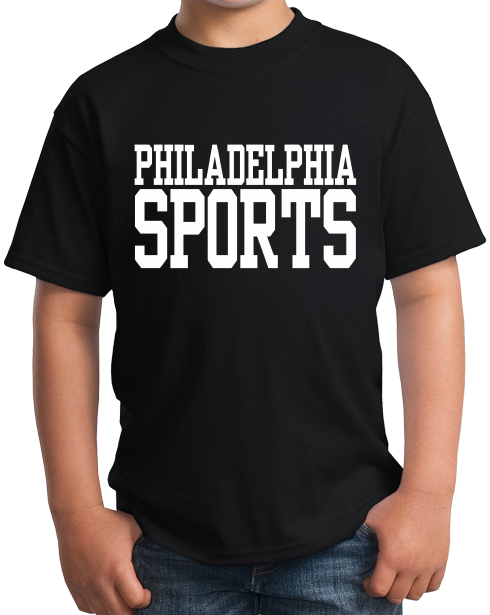 Youth Black Philadelphia Sports - Generic Funny Sports Fan T-shirt