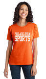 Ladies Orange Philadelphia Sports - Generic Funny Sports Fan T-shirt