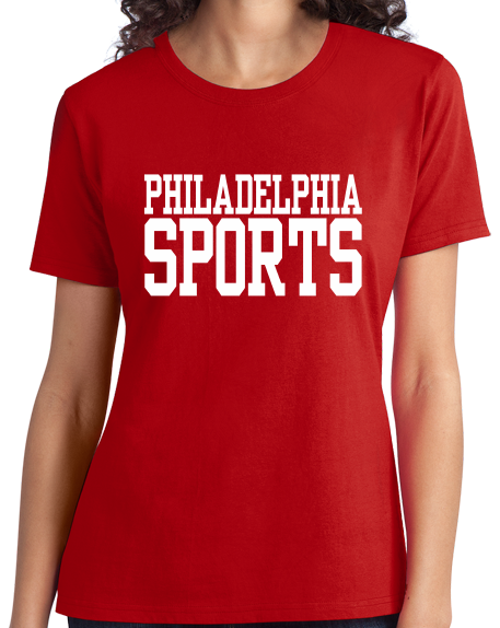 Ladies Red Philadelphia Sports - Generic Funny Sports Fan T-shirt