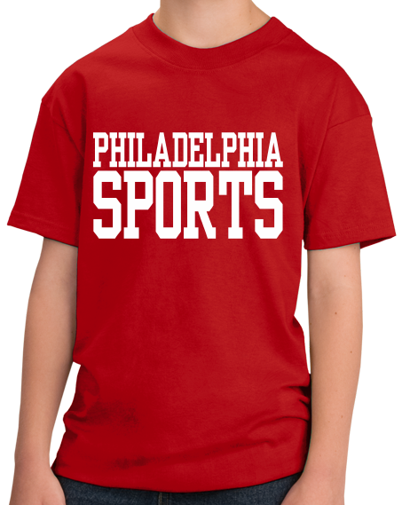 Youth Red Philadelphia Sports - Generic Funny Sports Fan T-shirt