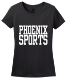 Ladies Black Phoenix Sports - Generic Funny Sports Fan T-shirt