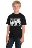 Youth Black Phoenix Sports - Generic Funny Sports Fan T-shirt