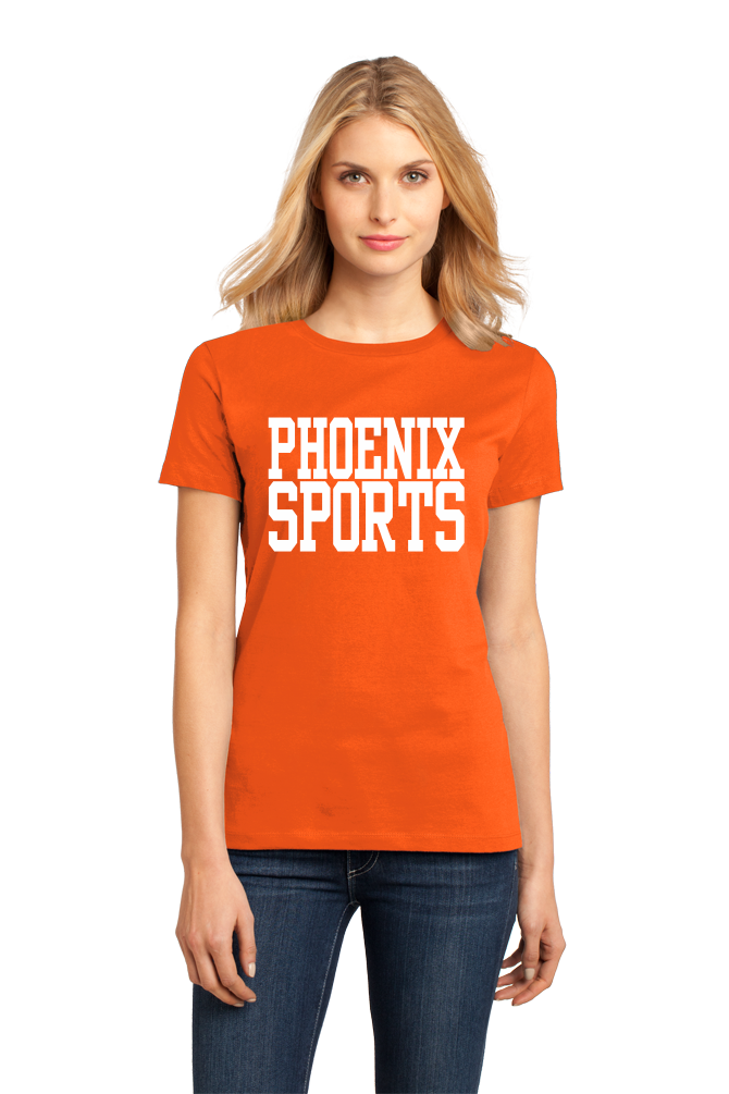 Ladies Orange Phoenix Sports - Generic Funny Sports Fan T-shirt