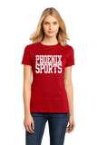 Ladies Red Phoenix Sports - Generic Funny Sports Fan T-shirt