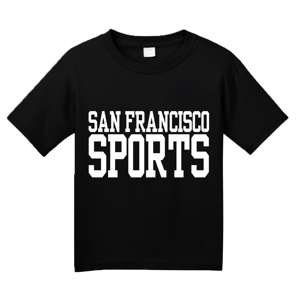 Youth Black San Francisco Sports - Generic Funny Sports Fan T-shirt