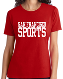 Ladies Red San Francisco Sports - Generic Funny Sports Fan T-shirt