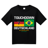 Youth Black Touchdown Deutschland - 2014 FIFA World Cup German Soccer Fan T-shirt