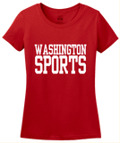 Ladies Red Washington D.C. Sports - Funny Generic Sports Fan T-shirt