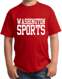 Youth Red Washington D.C. Sports - Funny Generic Sports Fan T-shirt