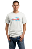 Unisex White Footprint Logo on White T-shirt