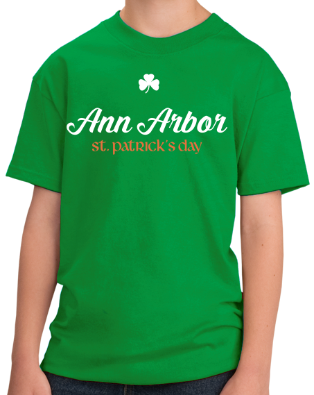 Youth Green Ann Arbor St. Patrick's Day T-shirt