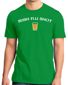 Standard Green Irish Flu Shot - St. Patrick's Day Irish Pride Whiskey Joke T-shirt