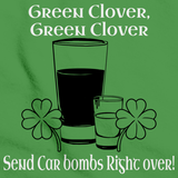 FUNNY IRISH CAR BOMB TEE Green art preview