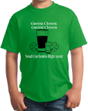 Youth Green Green Clover Green Clover Send Car Bombs Right Over T-shirt