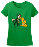 Ladies Green Un-lucky Leprechaun Puking T-shirt