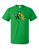 Standard Green Un-lucky Leprechaun Puking T-shirt