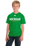 Youth Green Michigan St. Patrick's Day - Michigan Pride Drinking Party T-shirt