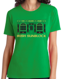 Ladies Green Irish Sunblock - St. Patrick's Day Funny Pub Drinking Party T-shirt