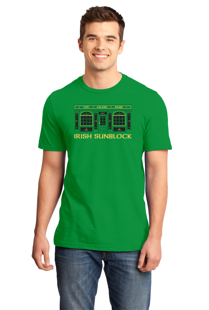 Standard Green Irish Sunblock - St. Patrick's Day Funny Pub Drinking Party T-shirt