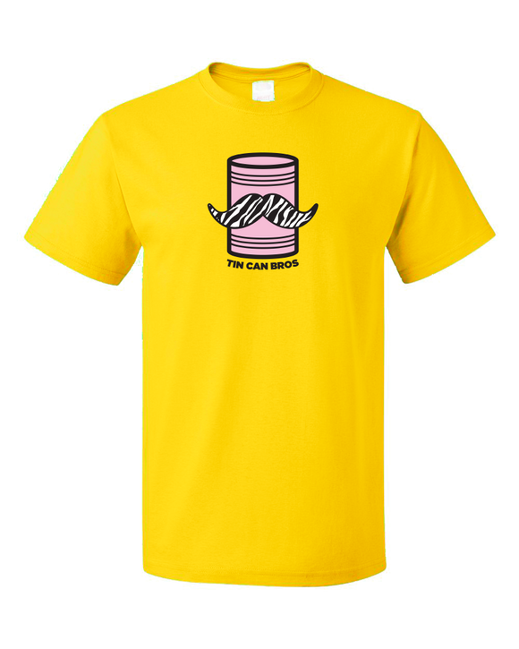 Standard Yellow Tin Can Brothers - TinCanimals Pink and Yellow T-shirt