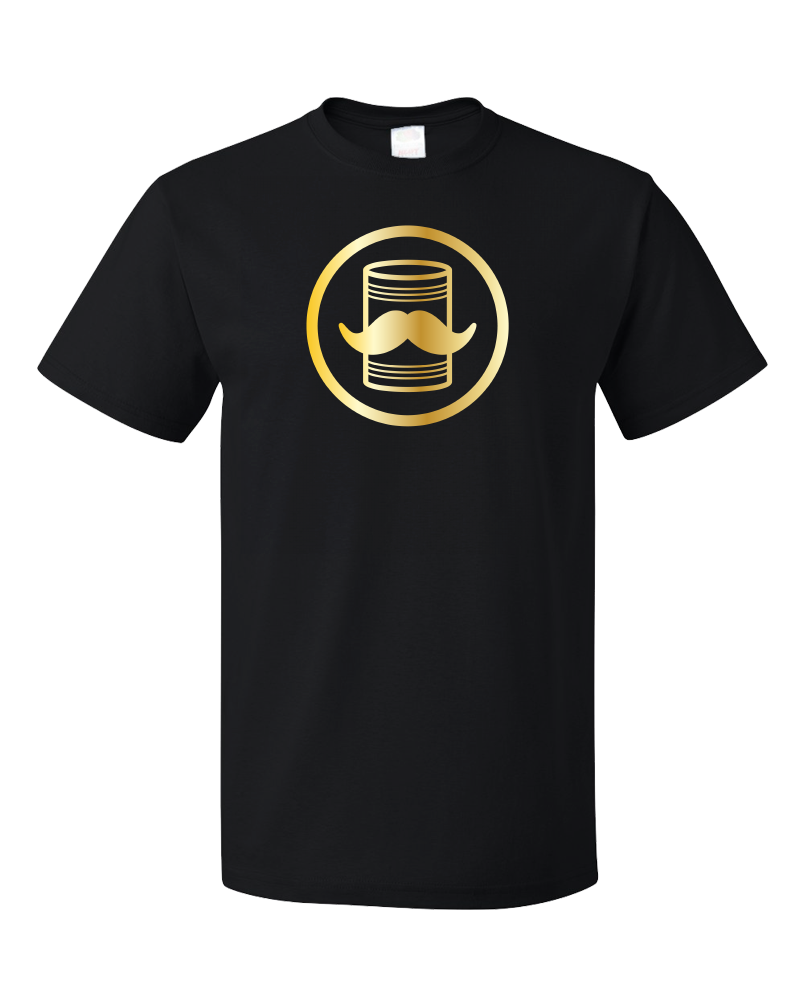 Tin Can Brothers - Shimmering Gold Print Logo T-shirt product shot