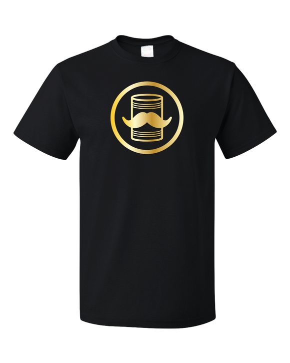 Standard Black Tin Can Brothers - Shimmering Gold Print Logo T-shirt