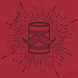 Tin Can Brothers Mustache Can Black Red Art Preview