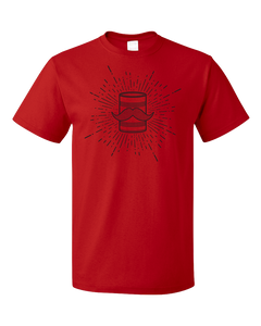 Standard Red Tin Can Brothers Mustache Can Black T-shirt