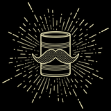 Tin Can Brothers Mustache Can Yellow Black Art Preview