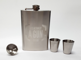 SPIES ARE FOREVER IT'S ACTUALLY A GUN FLASK AND SHOT GLASS SET