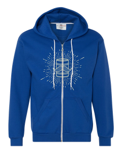 Zip Hoodie Royal Tin Can Brothers Yellow Zip-Hood