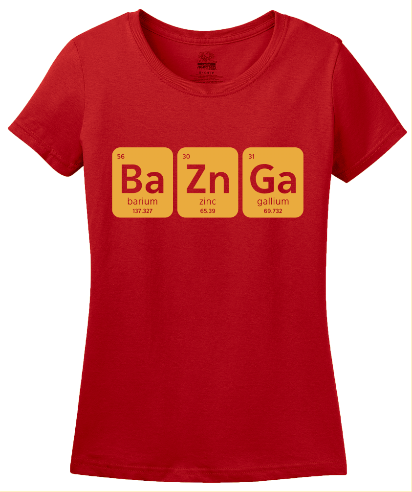 Ladies Red Bazinga T-shirt