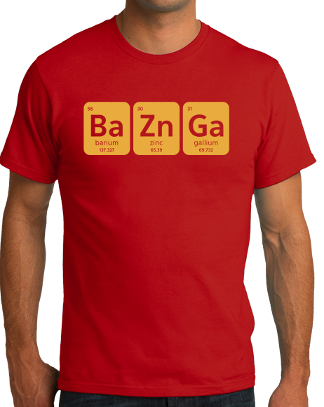 Unisex Red Bazinga T-shirt