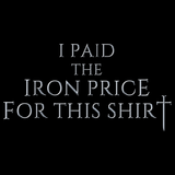 I Paid The Iron Price For This Shirt | Fantasy Fan Black Art Preview