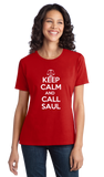 Ladies Red Keep Calm And Call Saul T-shirt