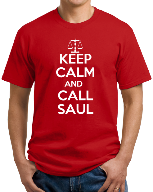 Unisex Red Keep Calm And Call Saul T-shirt