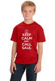Youth Red Keep Calm And Call Saul T-shirt