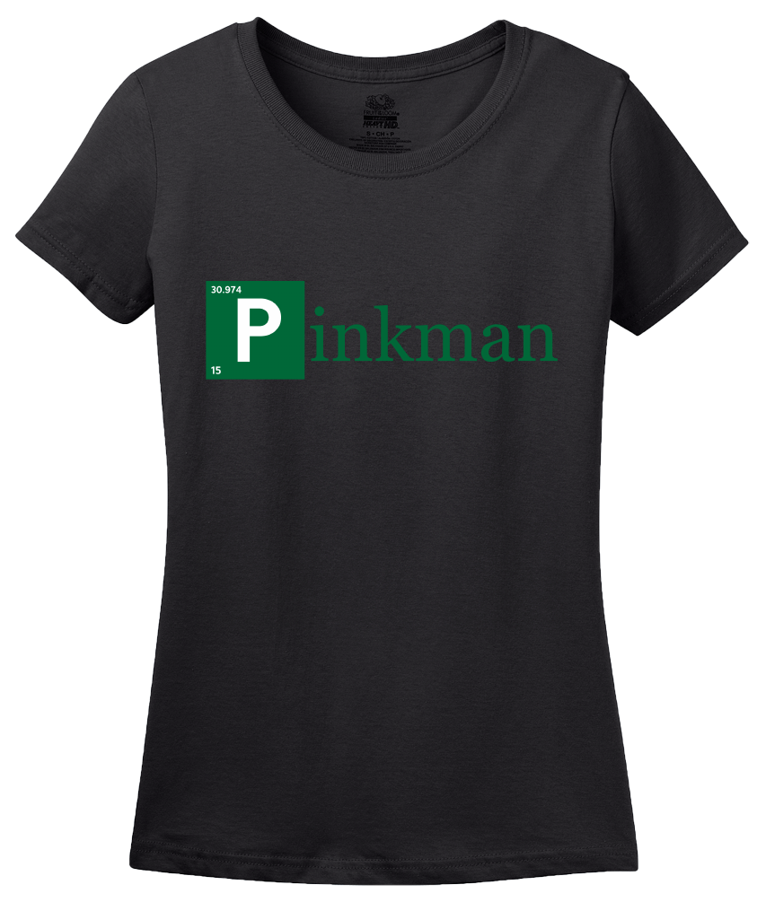 Ladies Black Pinkman Element T-shirt