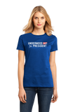 Ladies Royal Underwood for President T-shirt