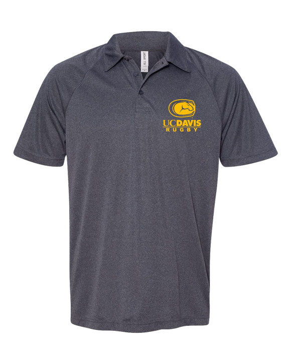 Unisex Performance 3 Button Polo Heather Navy UC Davis Rugby - Performance Polo