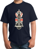 Youth Navy Big Ben UK Love - London Anglophile British Pride Love England T-shirt