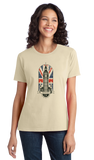 Ladies Natural Big Ben Parliament - UK Pride London England Union Jack Love T-shirt