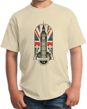 Youth Natural Big Ben Parliament - UK Pride London England Union Jack Love T-shirt