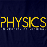 Physics Wordmark Navy Tee Navy Art Preview
