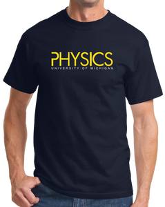 Unisex Navy Physics Wordmark Navy Tee T-shirt