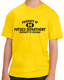 Youth Yellow Yellow Property of UM Physics Dept. T-shirt