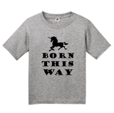 Youth Grey Born This Way - Lady Gaga LGBT Bisexual Unicorn Hipster Cool T-shirt