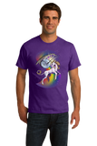 Standard Purple Unicorn Narwhal Duel - Mythical Creature Rainbow Funny T-shirt