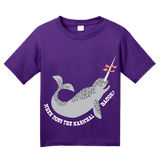 Youth Purple When Does The Narwhal Bacon? - Reddit Humor Funny Meme T-shirt
