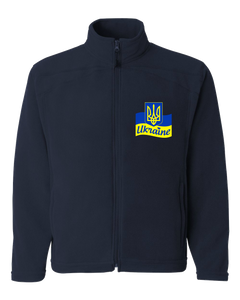 Adult Microfleece Full Zip Jacket Navy UNWLA Embroidered Full-Zip Microfleece jacket